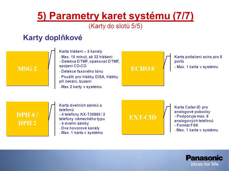 MSG 2 DPH 4 / DPH 2 DPH 4 / DPH 2 Karta hlášení – 2 kanály - Max. 15 minut, až 32 hlášení - Detekce DTMF, opakovač DTMF, spojení CO-CO - Detekce faxov