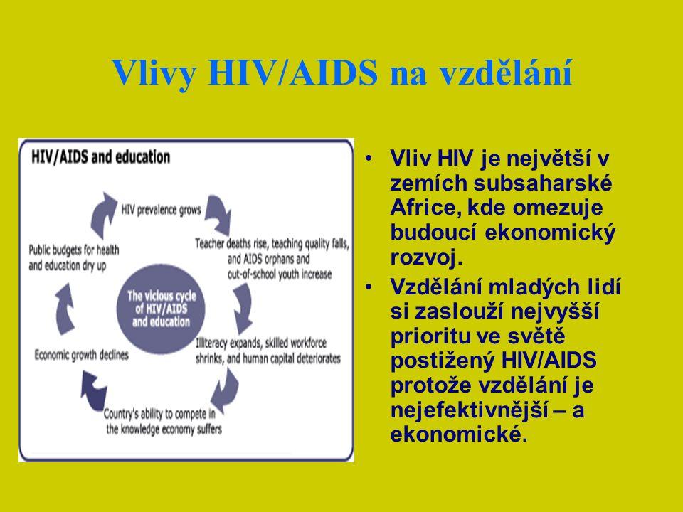 Důsledky epidemií jsou obrovské HIV/AIDS, tuberkulóza a malárie patří mezi největší zabijáky na světě.