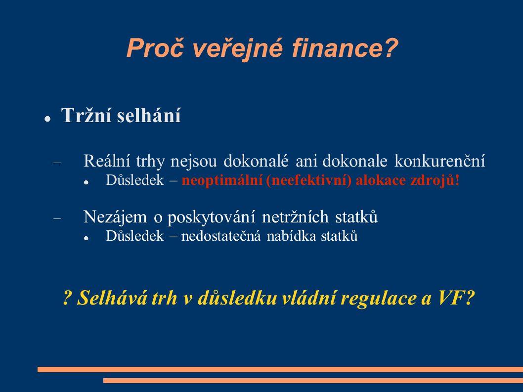 Proč veřejné finance.
