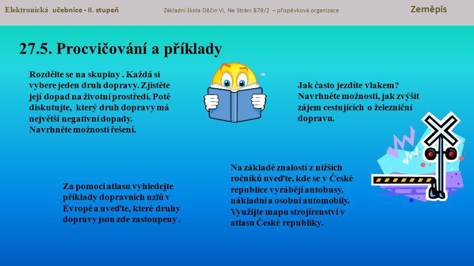 27.5.Procvičování a příklady Elektronická učebnice - II.