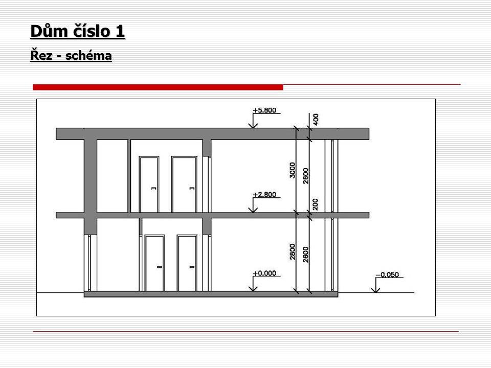 Dům číslo 1 Řez - schéma