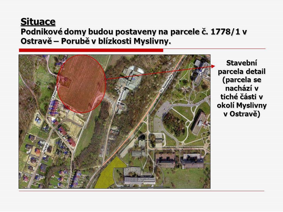 Stavební parcela detail (parcela se nachází v tiché části v okolí Myslivny v Ostravě)