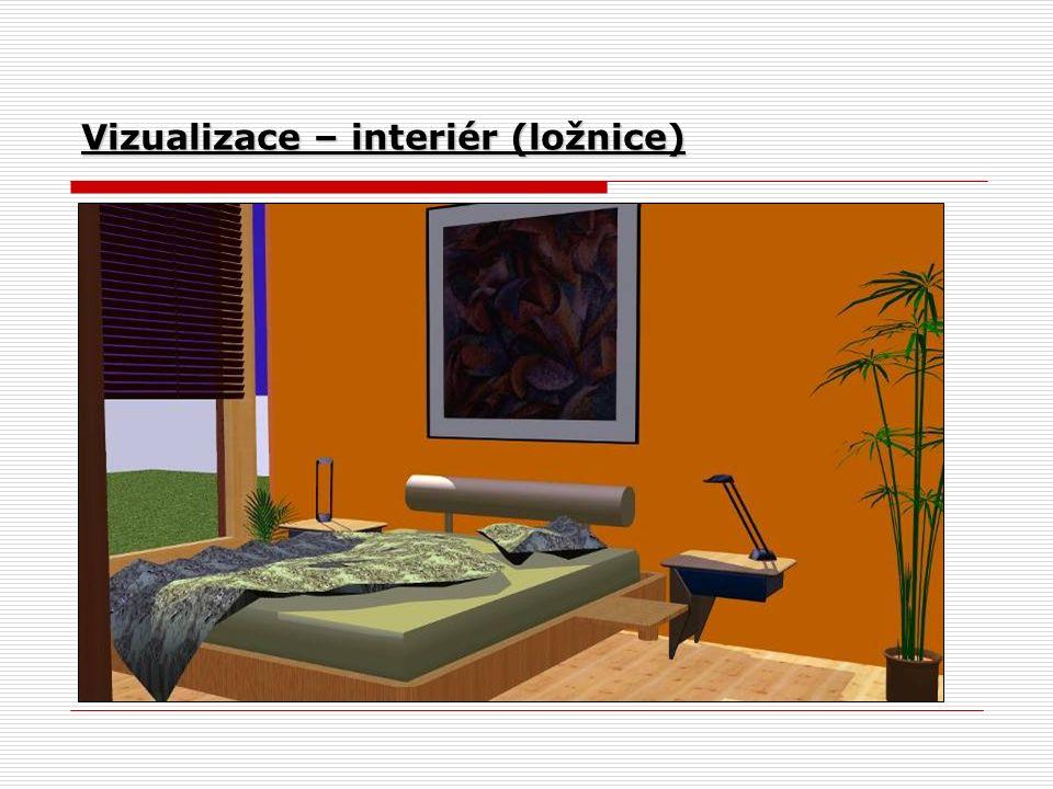 Vizualizace – interiér (ložnice)