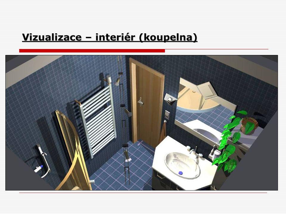 Vizualizace – interiér (koupelna)