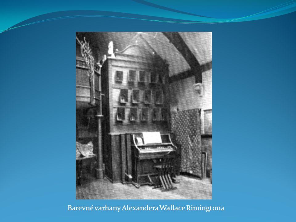 Barevné varhany Alexandera Wallace Rimingtona