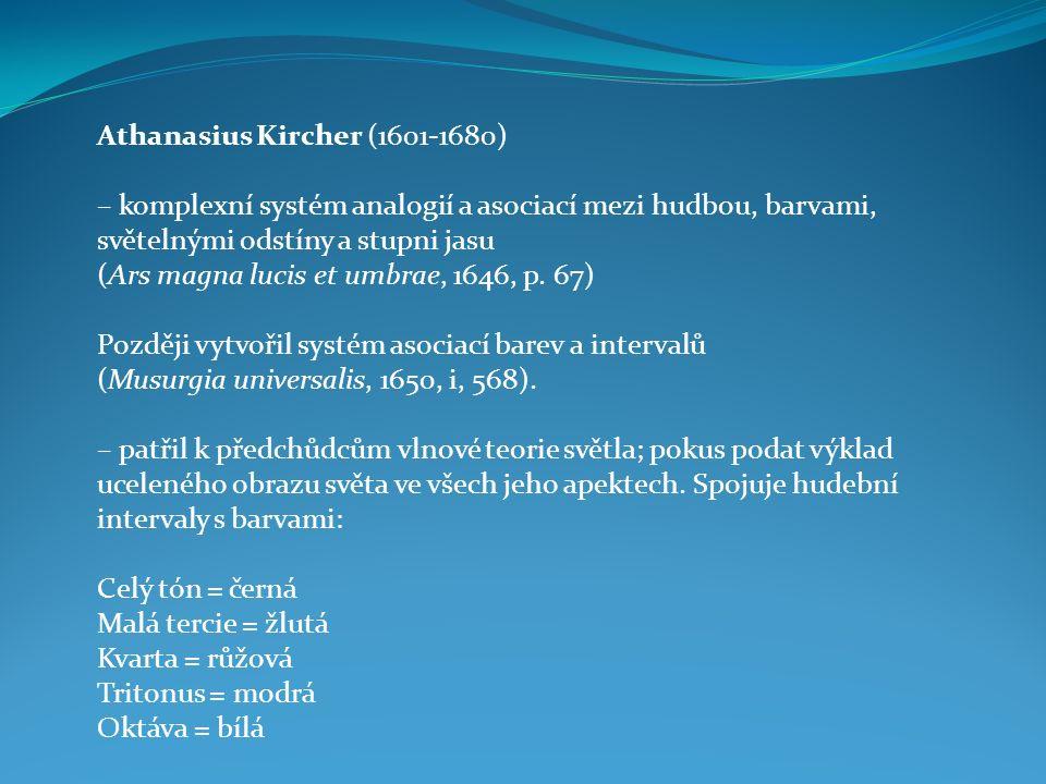 A.Kircher – asociace barev a afektivních poloh lidského hlasu Nejnapjatější h.