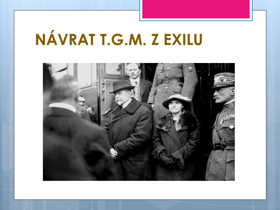 NÁVRAT T.G.M. Z EXILU