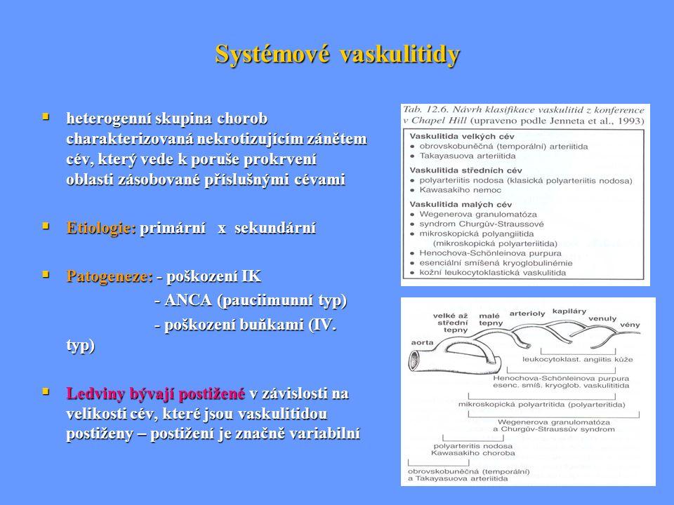 Systémové vaskulitidy  heterogenní skupina chorob charakterizovaná nekrotizujícím zánětem cév, který vede k poruše prokrvení oblasti zásobované přísl