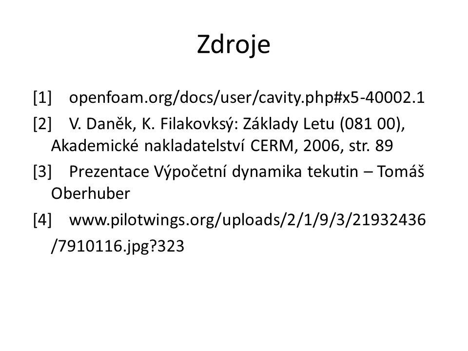 Zdroje [1]openfoam.org/docs/user/cavity.php#x5-40002.1 [2]V.