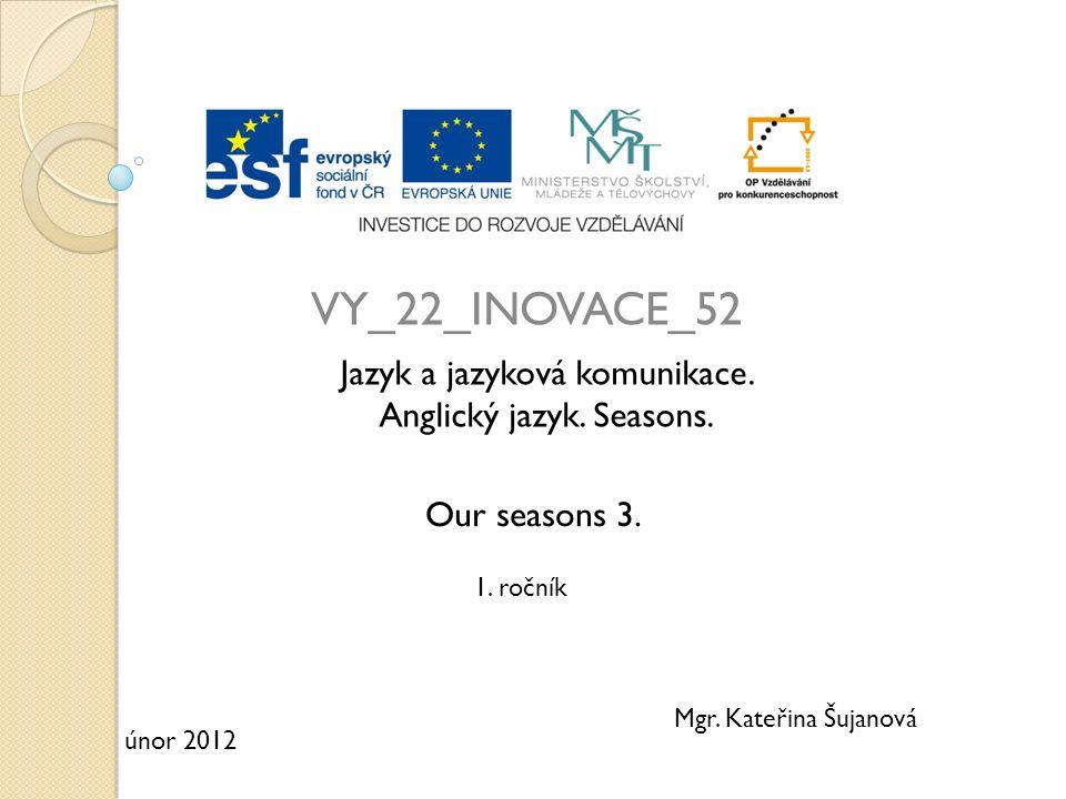 VY_22_INOVACE_52 Jazyk a jazyková komunikace. Anglický jazyk.
