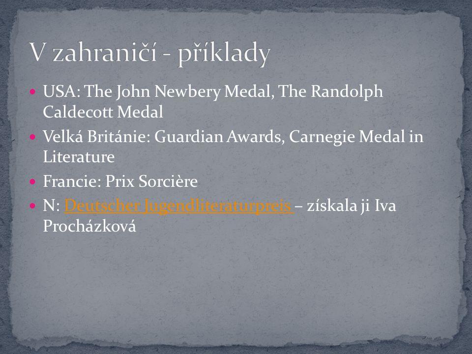 Cena Hanse Christiana Andersena (Hans Christian Andersen Awards) Cena Hanse Christiana Andersena (Hans Christian Andersen Awards) Iniciátorka: Jella Lepman Vznik: 1956 Od 1966 kategorie ilustrátorů IBBY (z dalších ocenění: IBBY-Asahi Reading Promotion Award, IBBY Honour List)IBBY Honour List Za celoživotní přínos Každé dva roky Nominace: jednotlivé národní sekce IBBY Vítěze vybírá mezinárodní porota složená z odborníků Časopis Bookbird 1980 Bohumil Říha; 1968 Jiří Trnka, 1988 Dušan Kállay, 1992 Květa Pacovská