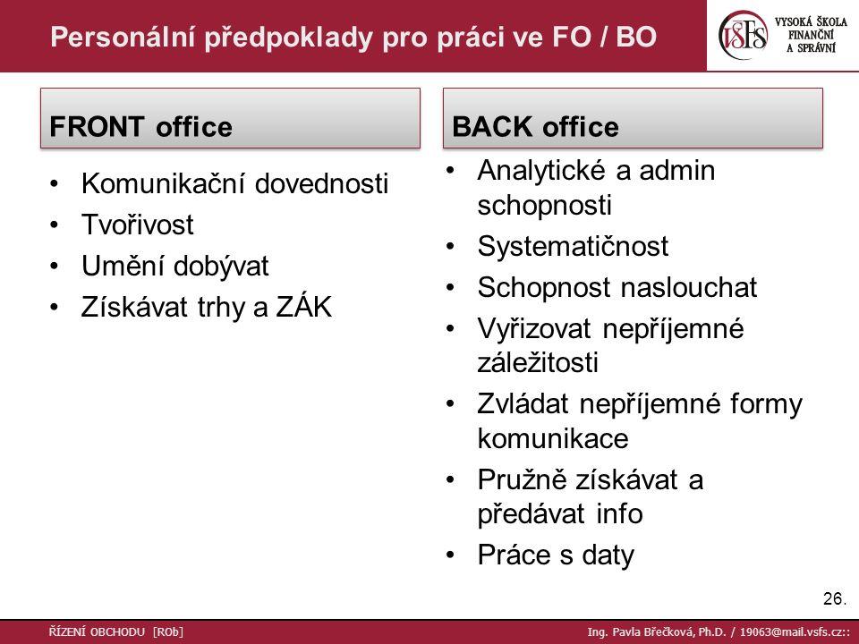 27.ŘÍZENÍ OBCHODU [ROb] Ing. Pavla Břečková, Ph.D.
