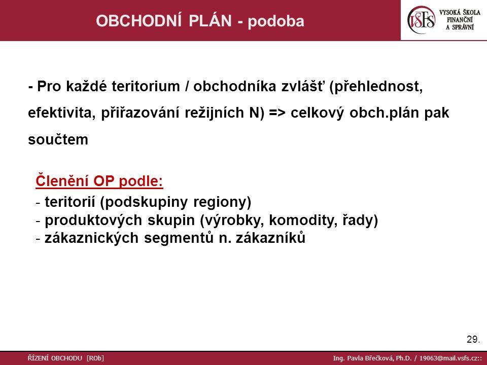 30.ŘÍZENÍ OBCHODU [ROb] Ing. Pavla Břečková, Ph.D.