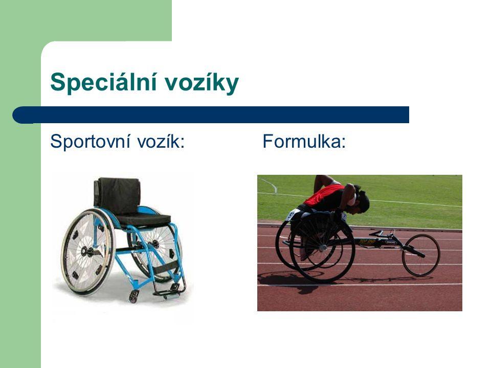 Speciální vozíky Sportovní vozík: Formulka: