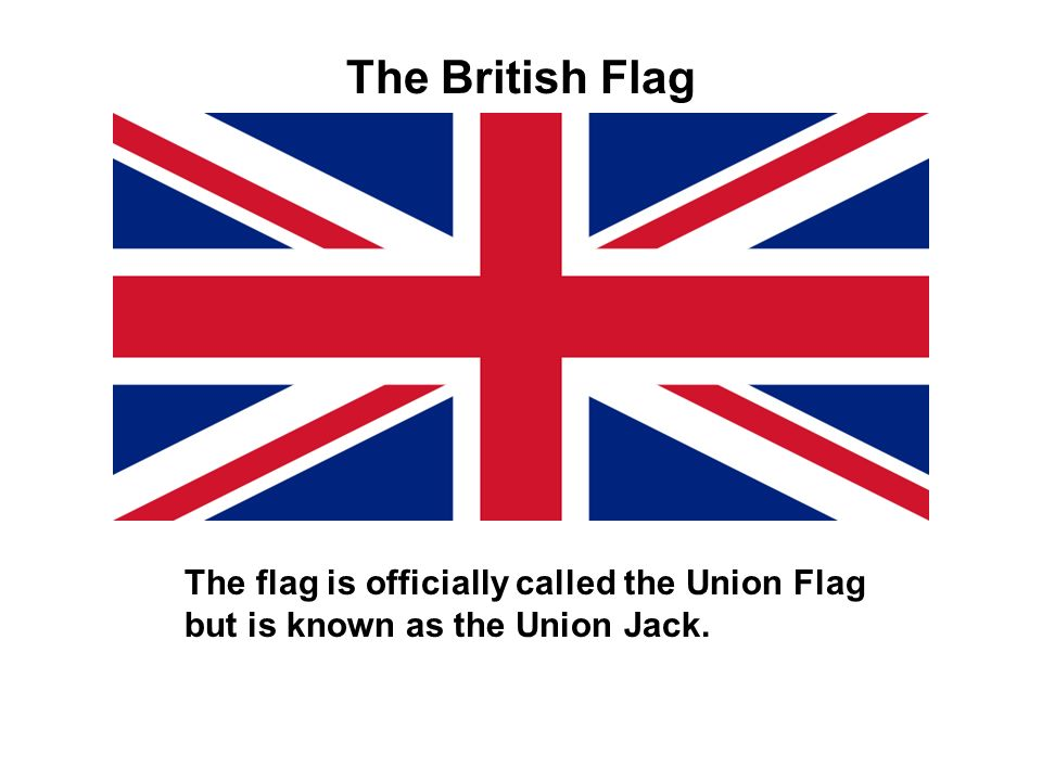 The flag is made up of the crosses of the patron saints of England (St George´s red cross on a white field), Ireland (St Patrick´s red diagonals on a white field) and Scotland (St Andrew´s white diagonals on a blue field.