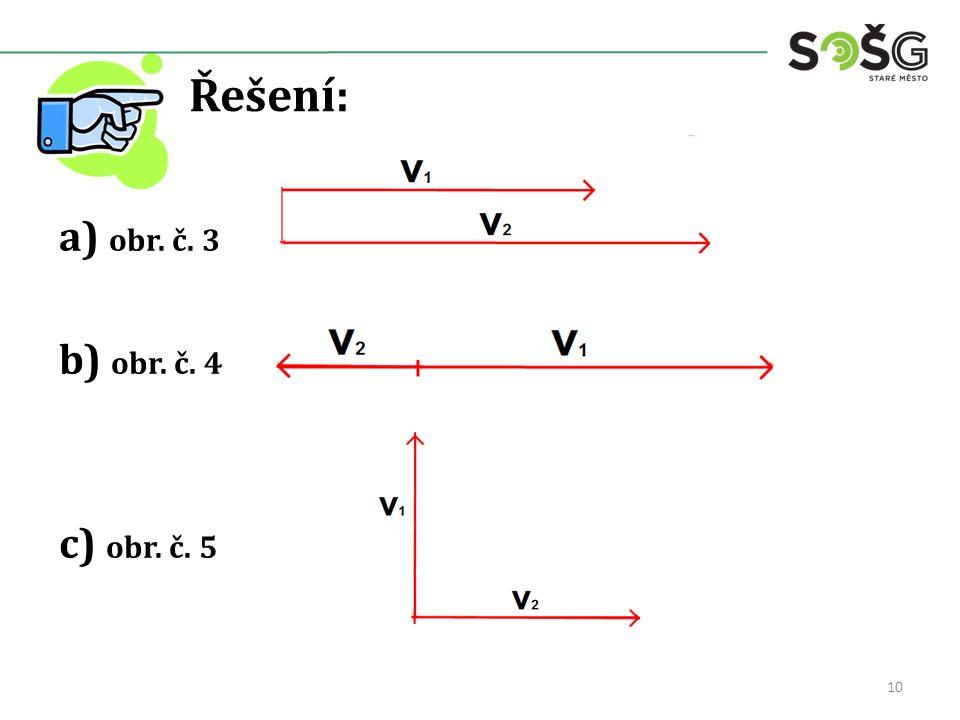 Řešení: a) obr. č. 3 b) obr. č. 4 c) obr. č. 5 10