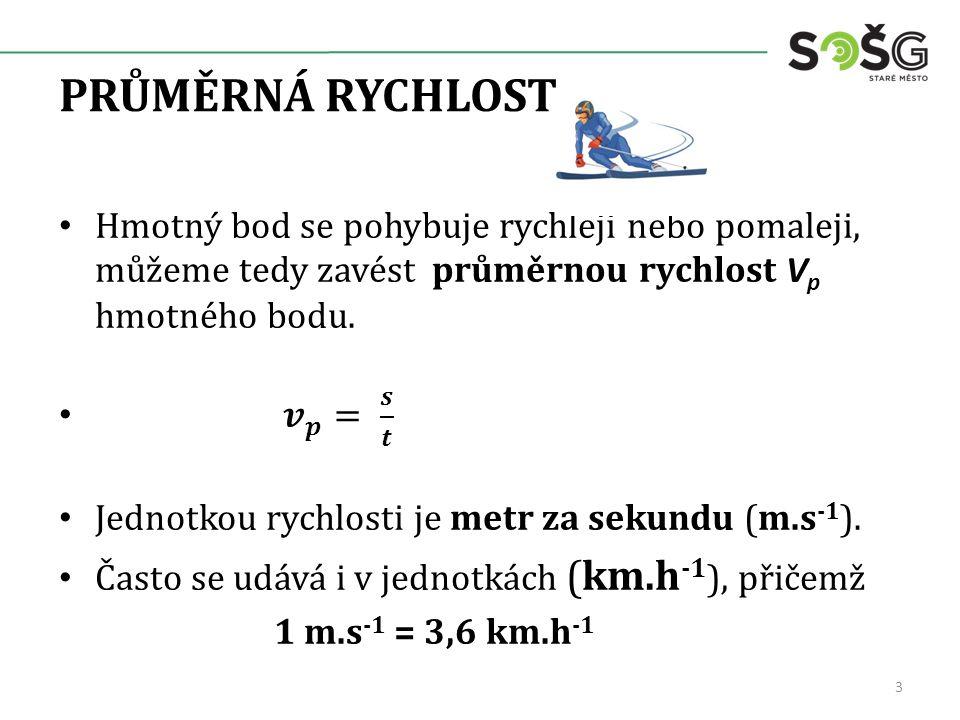 PRŮMĚRNÁ RYCHLOST 3
