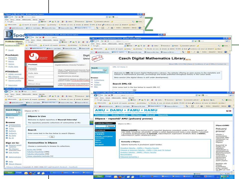 21.10.2009 Systémy pro zpřístupňování eVŠKP 2009 6 DSPACE CZ Particular Installations