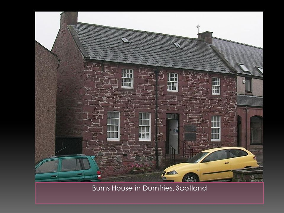 Burns House in Dumfries, Scotland