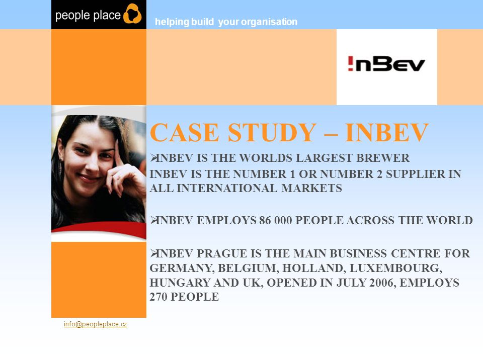 CASE STUDY – INBEV helping build your organisation People Place s.r.o.
