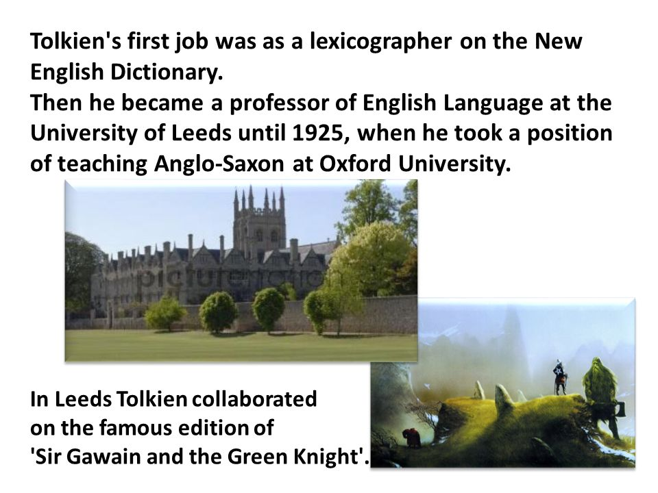 In 1917 J.R.R.Tolkien began working on his epic - The Silmarillion .