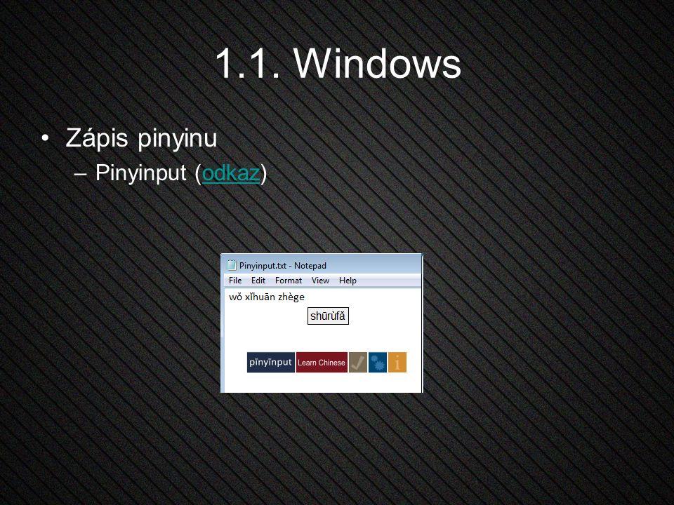 1.2. Linux Integrovaná IME v jednotlivých distribucích IBus (odkaz)odkaz