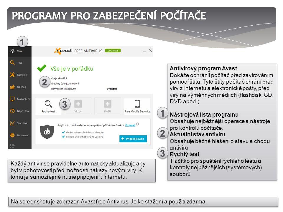 Každý antivir se pravidelně automaticky aktualizuje aby byl v pohotovosti před možností nákazy novými viry. K tomu je samozřejmě nutné připojení k int