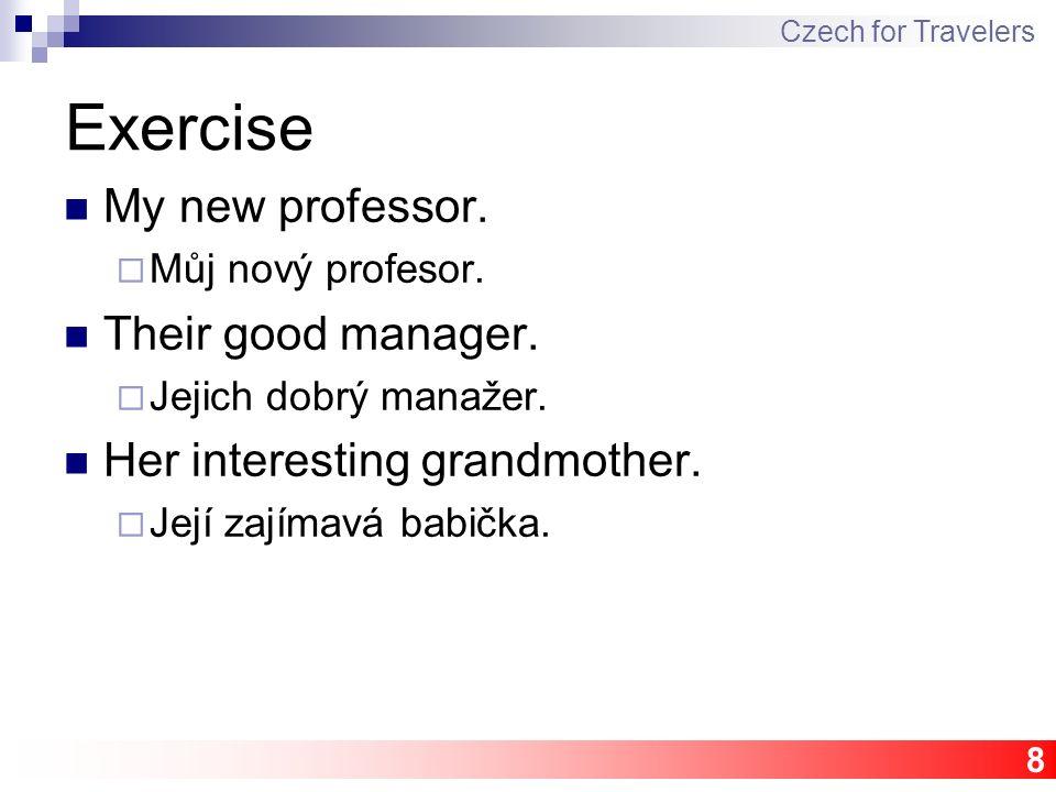 8 Exercise My new professor. Můj nový profesor. Their good manager.