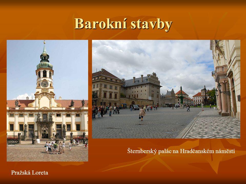 Barokní stavby Šternberský palác na Hradčanském náměstí Pražská Loreta