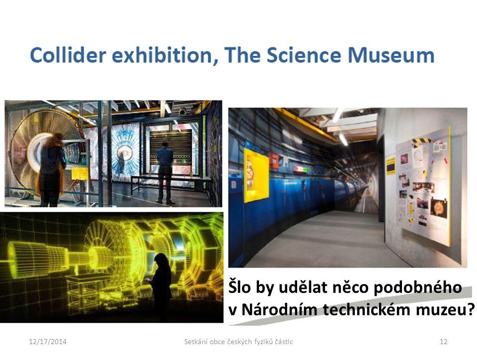 12/17/201412Setkání obce českých fyziků částic Šlo by udělat něco podobného v Národním technickém muzeu