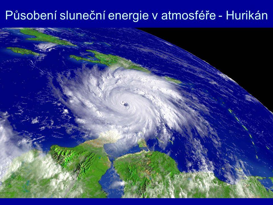 Působení sluneční energie v atmosféře - Hurikán