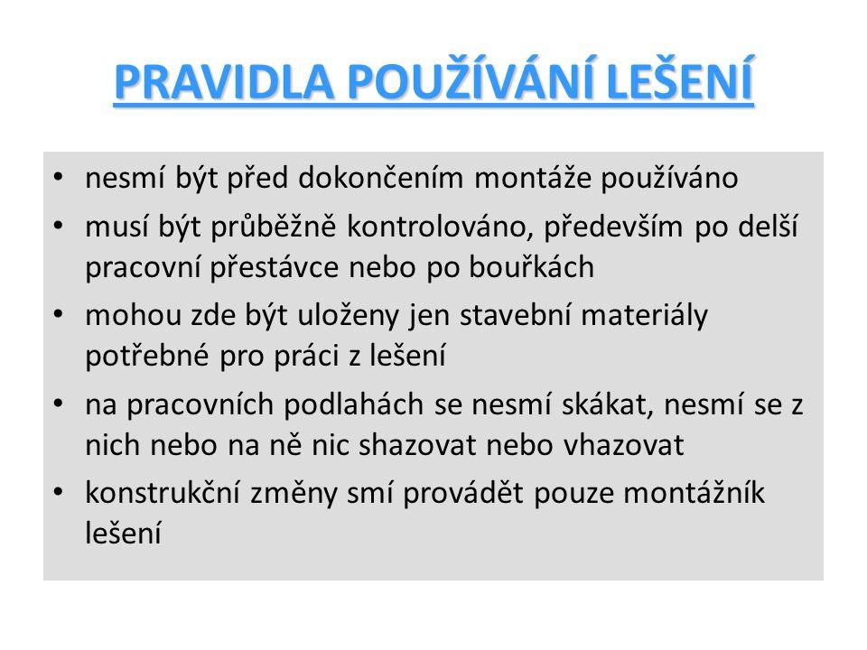 ZÁKLADNÍ ČÁSTI LEŠENÍ 1.