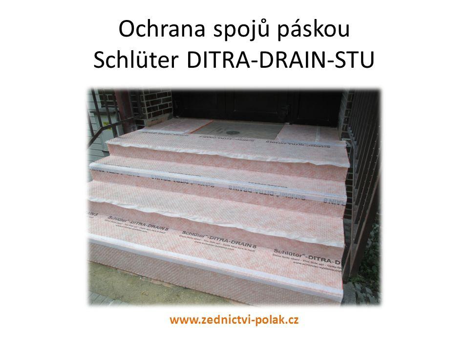 Ochrana spojů páskou Schlüter DITRA-DRAIN-STU