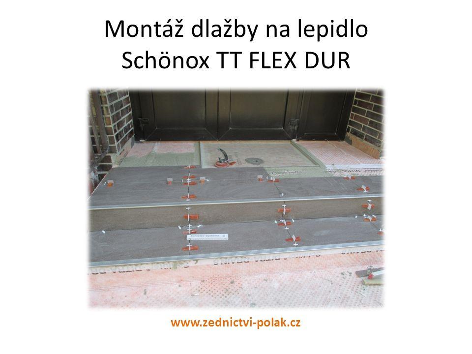 Montáž dlažby na lepidlo Schönox TT FLEX DUR