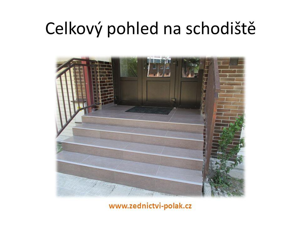 Celkový pohled na schodiště