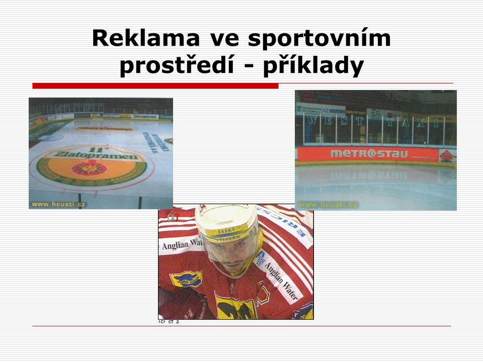 Reklama ve sportovním prostředí - příklady