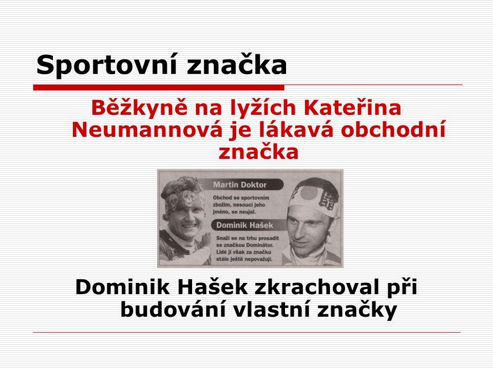 Sportovní značka Běžkyně na lyžích Kateřina Neumannová je lákavá obchodní značka Dominik Hašek zkrachoval při budování vlastní značky