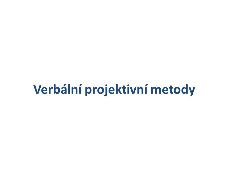 Slovní asociační experiment Historie Patří k nejstarším psdg.