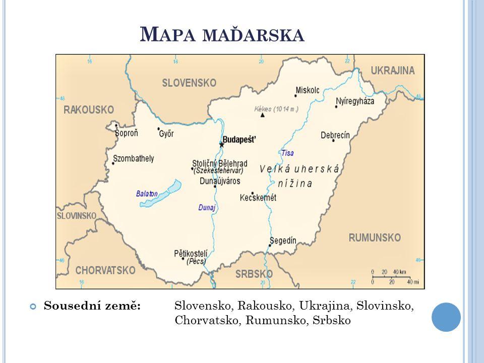 Z ÁKLADNÍ INFORMACE Počet obyvatel: 9 906 000 Jazyk: maďarština, první zmínka v maďarštině se našla v klášteře na poloostrově Tihany na Balatonu.