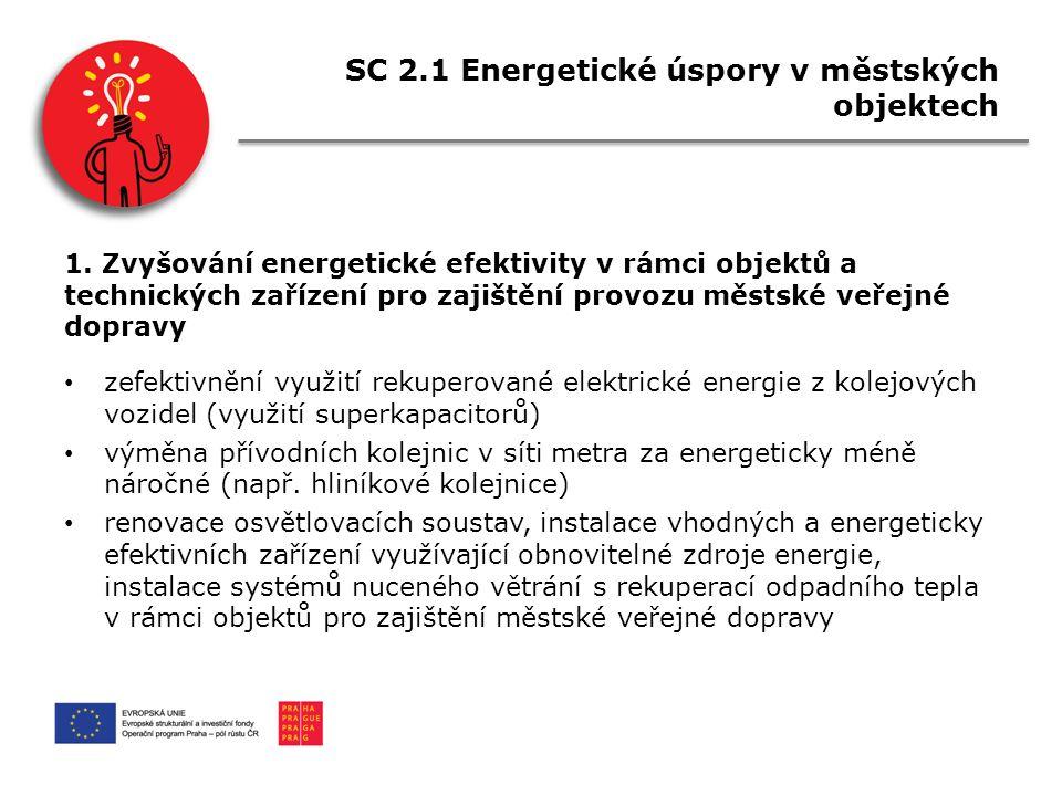 SC 2.1 Energetické úspory v městských objektech 1.