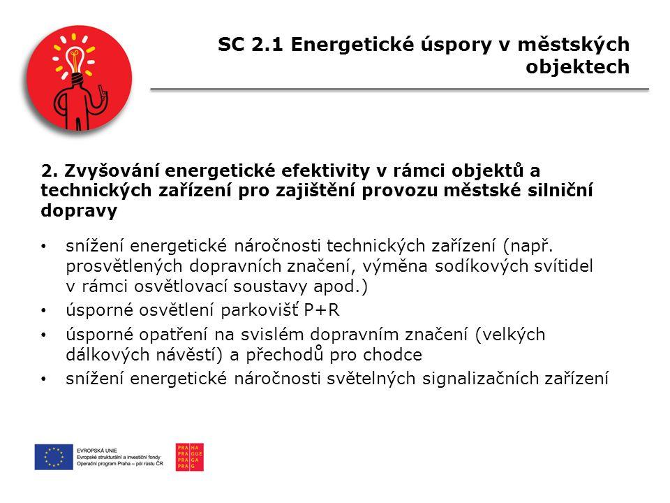 SC 2.1 Energetické úspory v městských objektech 2.
