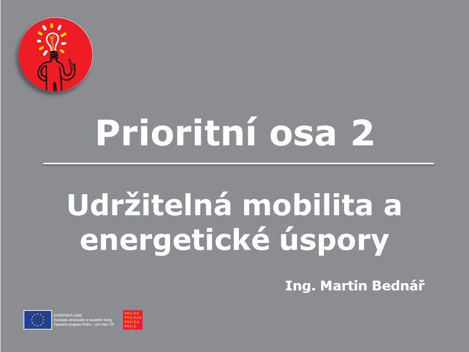 Prioritní osa 2 Udržitelná mobilita a energetické úspory Ing. Martin Bednář