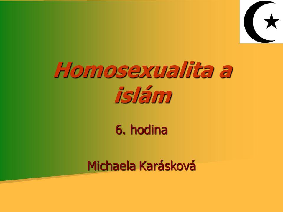 Homosexualita a islám 6. hodina Michaela Karásková