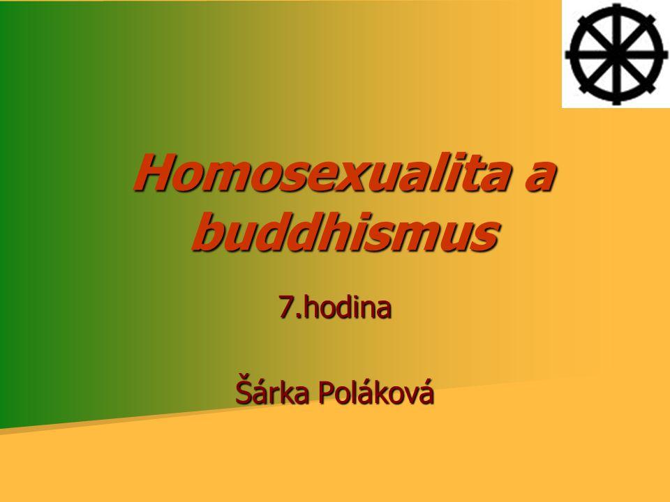 Homosexualita a buddhismus 7.hodina Šárka Poláková