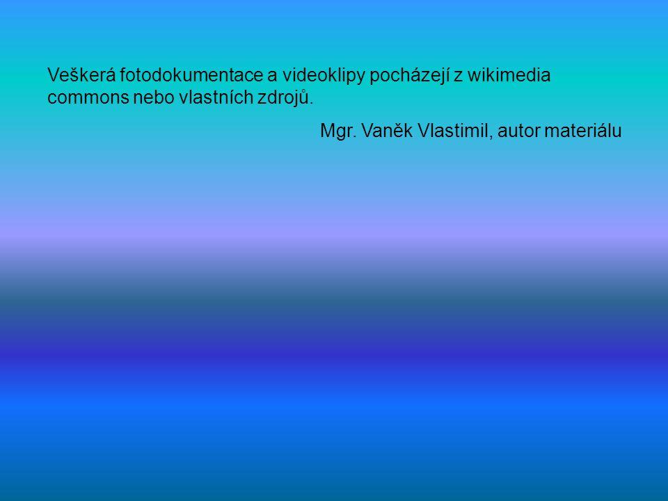 Veškerá fotodokumentace a videoklipy pocházejí z wikimedia commons nebo vlastních zdrojů. Mgr. Vaněk Vlastimil, autor materiálu