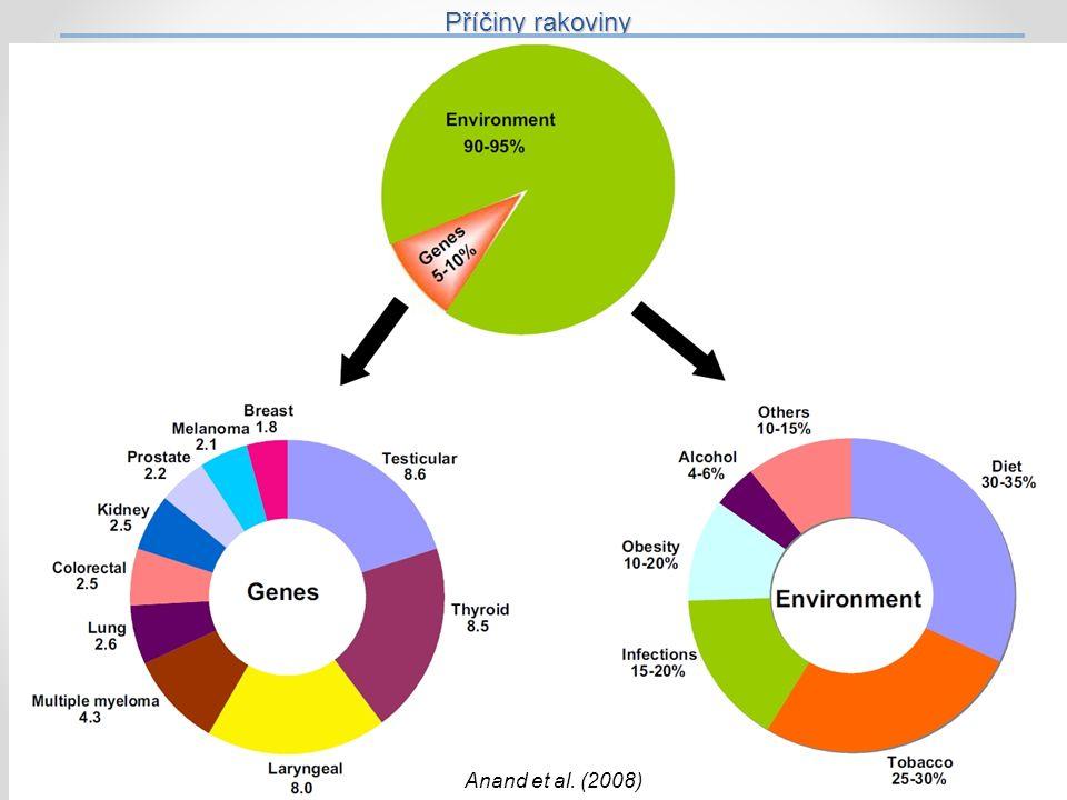 Příčiny rakoviny 27 Anand et al. (2008)