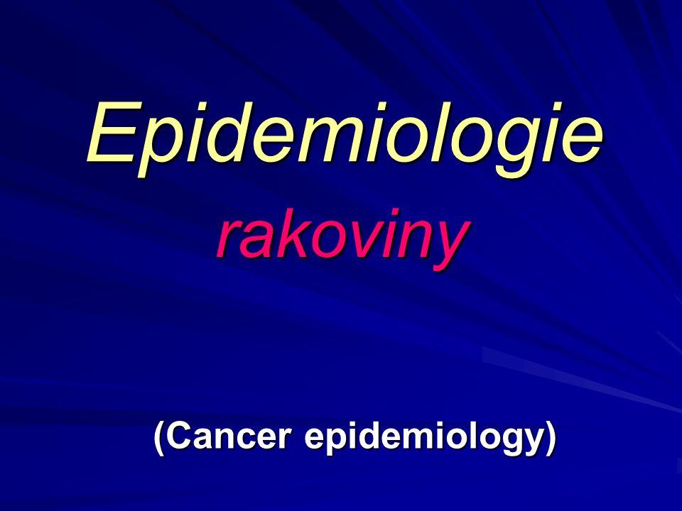Epidemiologie rakoviny (Cancer epidemiology)