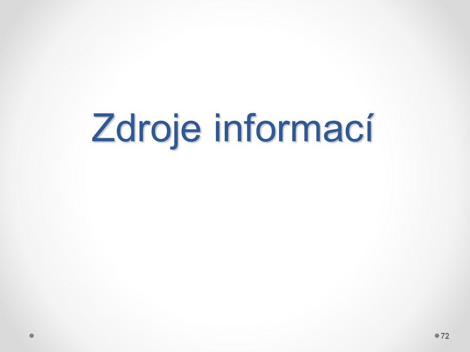 Zdroje informací 72