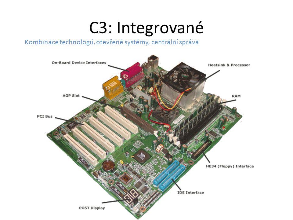 C3: Integrované Kombinace technologií, otevřené systémy, centrální správa