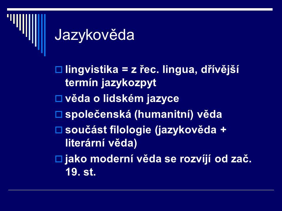  lingvistika = z řec.